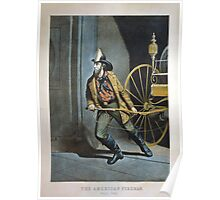 The American Fireman Poster