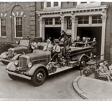 Early 20th Century Fire Engines by Eugene Francis Cummings
