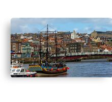 The Bark Endeavour Whitby Canvas Print