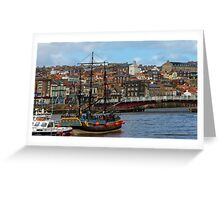 The Bark Endeavour Whitby Greeting Card