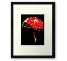 Dark Mushroom Framed Print
