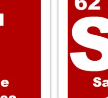 FSM - Periodic Table - Red & White Sticker
