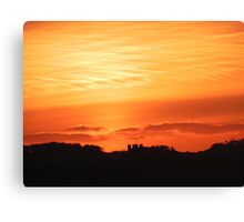 Sunset over Llandegai - from Llanfairfechan Canvas Print