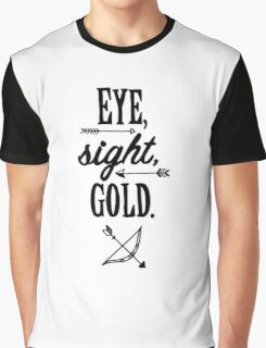 Eye, Sight, Gold. Graphic T-Shirt