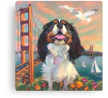 Cisco King Charles Cavalier Canvas Print