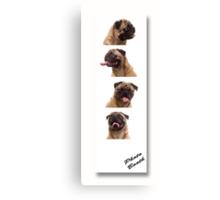 Funny Pug Dog Photo Booth Canvas Print