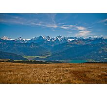 Jungfrau Alpine Panorama Photographic Print