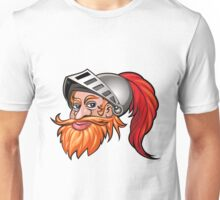 Knight in a Helmet Emblem Unisex T-Shirt