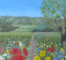 Sussex landscape by HurstPainters