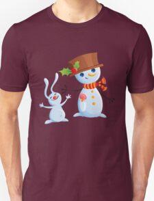 Christmas Snowman & Bunny T-Shirt