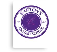 The Barton School of Archery Canvas Print