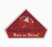 RACOON CITY - Gaming Luggage Labels Series by A.J.  Hateley