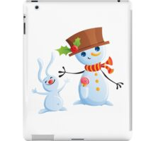 Christmas Snowman & Bunny iPad Case/Skin