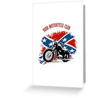Bikers Emblem Greeting Card