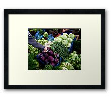 Vegetables Framed Print