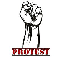 Protest Fist Photographic Print