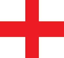 England Flag Phone Cover by Matt Burgess