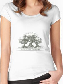 Save Wild Forests Women's Fitted Scoop T-Shirt