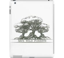 Save Wild Forests iPad Case/Skin