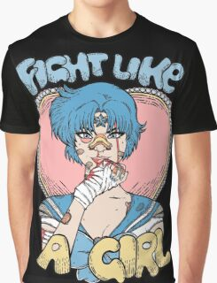 Sailor Moon- Fight Like a Girl (Sailor Mercury) Graphic T-Shirt