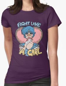 Sailor Moon- Fight Like a Girl (Sailor Mercury) Womens Fitted T-Shirt