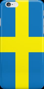 Sweden Flag Phone Cover by Matt Burgess