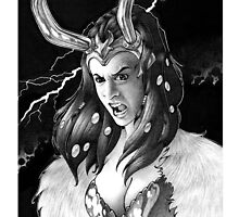 Lady Loki Enraged by Laura Guzzo