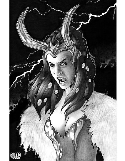 Lady Loki Enraged by Laura Guzzo