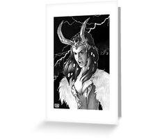 Lady Loki Enraged Greeting Card
