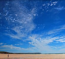 Sky Galaxy - Freshwater West by Mark Haynes Photography