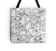 Creepies Collage Tote Bag