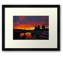Waterfront and Marina, Ipswich, Suffolk Framed Print