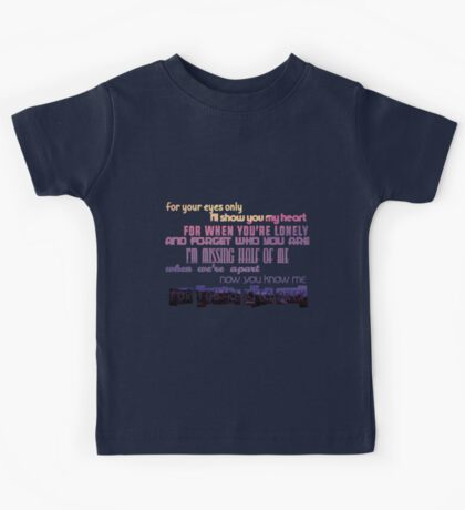 One Direction 'If I Could Fly' lyrics Kids Tee