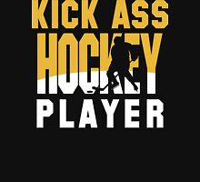 Hockey Player Team Colors Gold and White Unisex T-Shirt