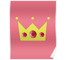 Crown with Pink Jewels Poster