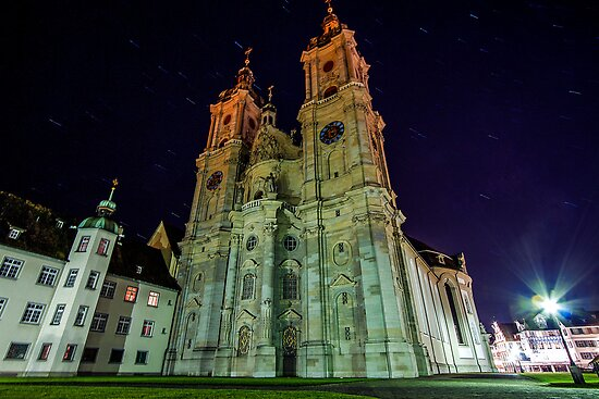 Star trails & the Abbey of Saint Gall by Prasad