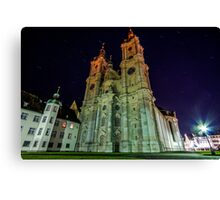 Star trails & the Abbey of Saint Gall Canvas Print