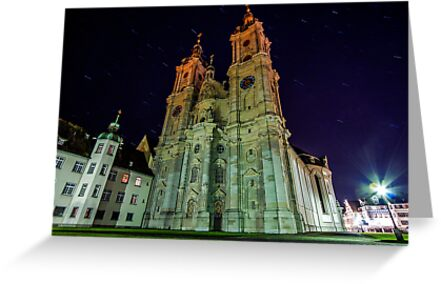 Star trails & the Abbey of Saint Gall by Prasad