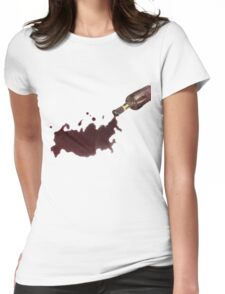 Wine Map Of Russia Womens Fitted T-Shirt