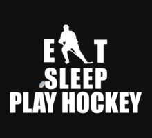 Eat Sleep Play Hockey One Piece - Long Sleeve