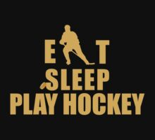 Eat Sleep Hockey by SportsT-Shirts