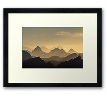 Evening Hues of the Säntis Framed Print
