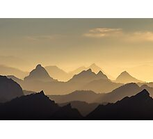 Evening Hues of the Säntis Photographic Print