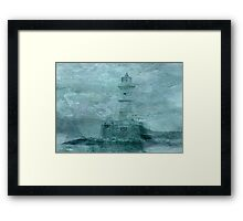 Lighthouse Impasto Framed Print