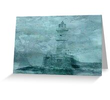 Lighthouse Impasto Greeting Card