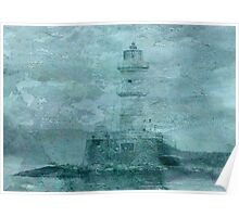 Lighthouse Impasto Poster