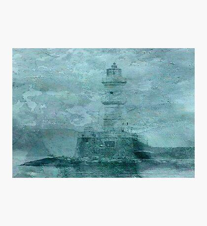 Lighthouse Impasto Photographic Print