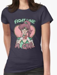 Sailor Moon- Fight Like a Girl (Sailor Jupiter) Womens Fitted T-Shirt