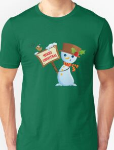 Merry Christmas Snowman T-Shirt
