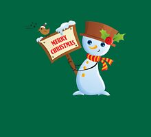 Merry Christmas Snowman Unisex T-Shirt